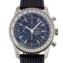 百年靈 (Breitling) Navitimer World 46 Chronograph Blue Dial Black...