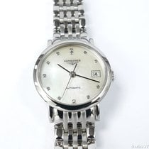 Longines Elegant Automatic White Mother of Pearl 12 Diamonds