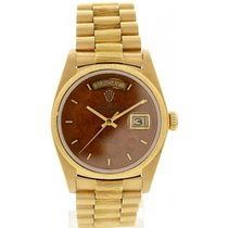 Rolex Day Date 18K Yellow Gold 18078 Bark Finish