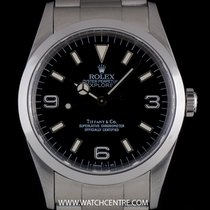 Rolex S/S O/P Rare Double Name Tiffany & Co Explorer I...