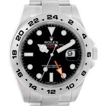 Rolex Explorer Ii Black Dial Stainless Steel Mens Watch 216570