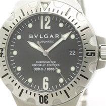 Bulgari Polished  Diagono Scuba Steel Automatic Mens Watch...