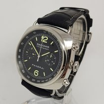 Panerai Radiomir Chronograph Steel Black Automatic 45mm  Watch