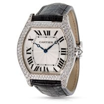 Cartier Tortue WA503851 Unisex Luxury Watch in 18K White Gold