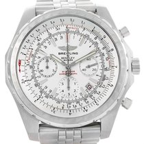 Breitling Bentley Motors T White Dial Steel Watch A25363 Box...