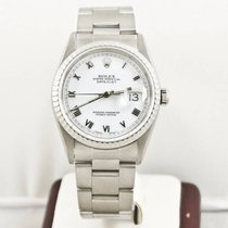 Rolex Datejust 16200 36mm Watch White Face Box & Booklets