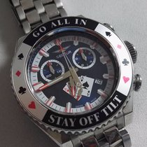 Sector Men's chrono Stainless Steel Poker Watch Black Dial...