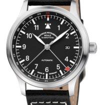 Mühle Glashütte Terrasport IV GMT Black Dial & Leather Strap...