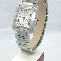 Cartier Tank Francaise 2302 Large Automatic Stainless Steel...