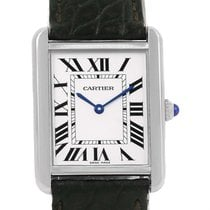 Cartier Tank Solo Silver Dial Stailess Steel Ladies Watch...