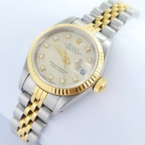 Rolex Datejust Damenuhr Mit Brillanten Diamanten Stahl/gold 69173