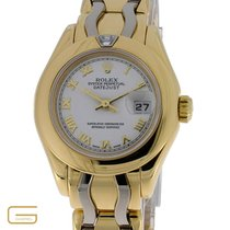 Rolex Lady DateJust Pearlmaster 18K.Gold/Weissgold  Diamant