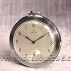 Omega Art Deco Steel Pocket Watch Cal. 37,5l-15p Top Condition