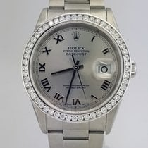 Rolex Datejust 36mm/Diamond White Gold Bezel/Oyster/116244 sro