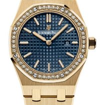 Audemars Piguet Royal Oak Ladies Yellow Gold Blue Dial...