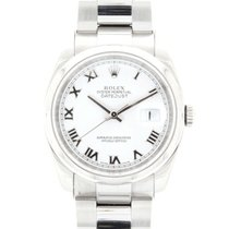 Rolex Oyster Perpetual Datejust Stainless Steel Roman Numerals...