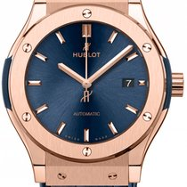 Hublot Classic Fusion 42mm Automatic King Gold Blue