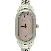David Yurman Pink Mother of Pearl Double Cable Watch