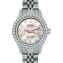 Rolex Datejust Ladies' 26mm Pink Mother Of Pearl Dial...