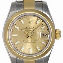 Rolex Ladies Rolex 2-Tone Datejust Watch 179163 Champagne Dial