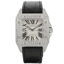 Cartier Santos 100 Medium Diamonds 2878