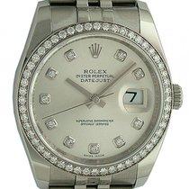 Rolex Datejust Stahl Weißgold Diamond Automatik Jubilé Armband...