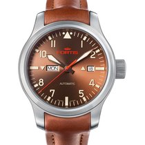 Fortis Aviatis Aeromaster Dawn Auto Swiss Day/date Watch 200m...