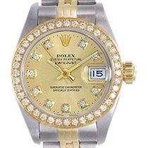 Rolex Ladies Rolex 2-Tone Datejust Steel & Gold Watch with...