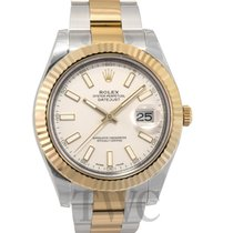 ロレックス (Rolex) Datejust || Ivory/18k gold 41mm - 116333
