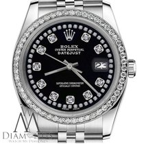 Rolex Womens Rolex 36mm Datejust Black Color String Diamond...