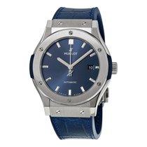 Hublot Classic Fusion Blue Sunray Dial Titanium Watch