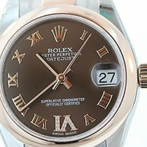 Rolex Ladies Midsize Datejust 18k Rose Gold Stainless Steel...