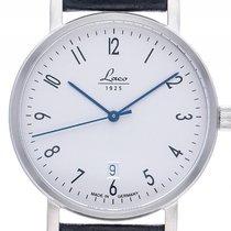 Laco Classic Berlin 40 Stahl Automatik Armband Leder 40mm...