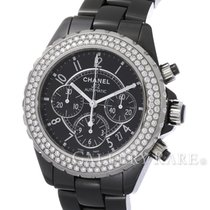 Chanel J12 Chronograph Diamond Bezel Black Ceramic 41MM