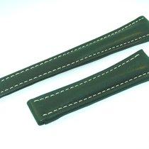 Breitling Band 22mm Kalb Grün Green Calf Strap Correa Für...