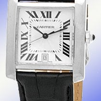 "Cartier ""Tank Francaise"" strapwatch."