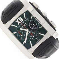 Ebel Brasilia Chronograph Black Dial Steel Automatic Mens...