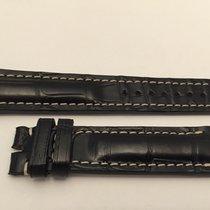 Breitling Strap Cinturino Crocodile Black 22x18