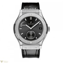 Hublot Clasic Titanium Automatic Leather Men's Watch