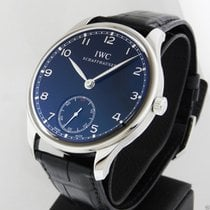 IWC Portuguese Manual Wind B&P 44mm Black Dial IW545407
