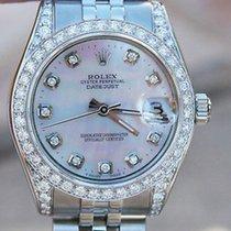 Rolex Datejust Midsize 178240 Mop Diamond Dial Diamond Bezel...