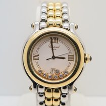 Σοπάρ (Chopard) Happy Sport 18k Gold Steel 32mm 7 Diamonds