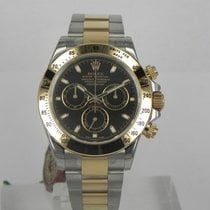 Rolex DAYTONA STEEL GOLD BLACK DIAL 116503