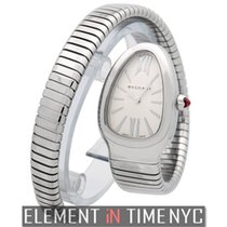 Bulgari Serpenti Stainless Steel Tubogas Silver Dial 23mm