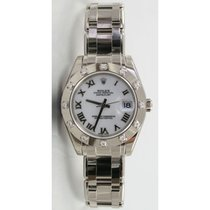 Rolex Masterpiece 80319 Ladies 18K White Gold w/Factory White...