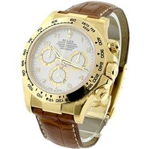 Rolex Unworn 116518 Yellow Gold DAYTONA on Strap 116518 -...