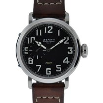 Zenith Pilot Montre D'aeronef Type 20 Stainless Steel Black...
