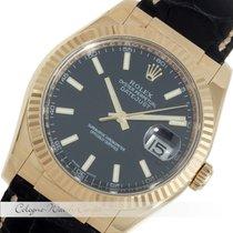 Rolex Datejust Gelbgold/Lederband 116138