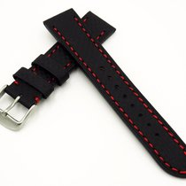 Rolex New 20mm Fiber Calfskin Leather Strap Replacement Band...
