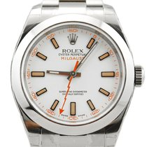 Rolex Milgauss Stainless Steel White Dial - 116400